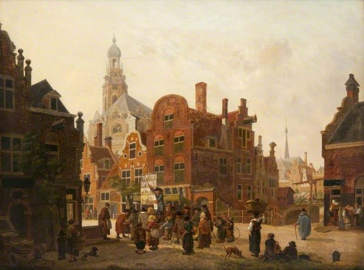 An imaginary Dutch Street by Jan Hendrik Verheyen, 1815