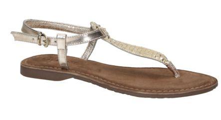 Lazamani 75.382 gouden platte sandaal