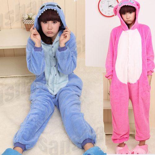 e4fe1675163 Anime Lilo & Stitch Cosplay Costume KIGURUMI Pajamas Christmas Party ...