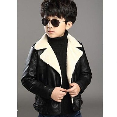drengs tykke vinter pu frakker (mere farve) – DKK kr. 216