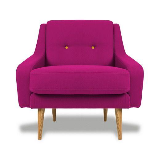 Кресло Одри, розовое - Roomble.com