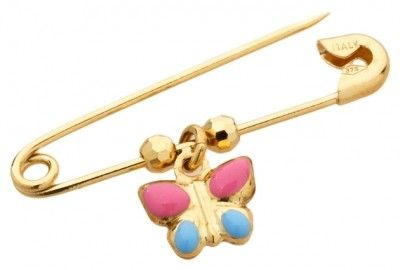 Butterfly Gold and Enamel Pin, $114.95 at the Greek Wedding Shop ~ http://www.greekweddingshop.com/