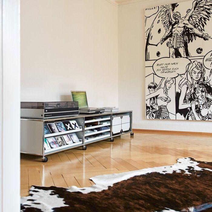 TV und Hi-Fi: USM Haller Lowboard auf Rollen - USM
