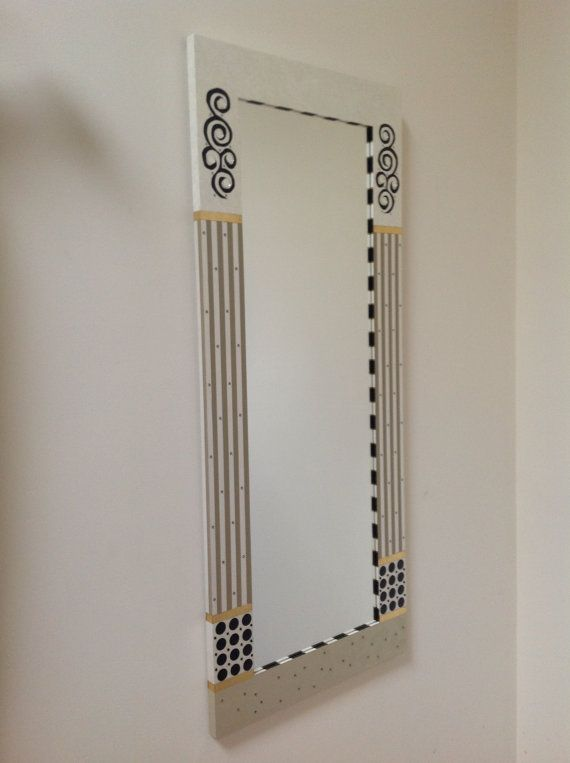 Contemporary Painted Mirror Frame White Beige by sharonmooradian