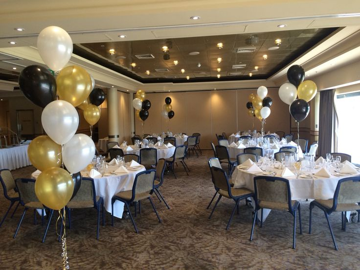 Such An Elegant Colour Scheme   Pearl Black, White And Gold   A Perfect  Match For The Grand Pittwater Room At North Ryde RSL. Table Centres And  Floor ...