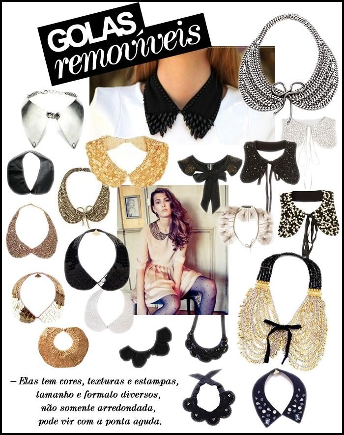 Maria Jocotó: golas removíveis e maxi colares
