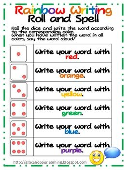 A great addition to your word work station! Get kids rolling and spelling their sight words with this freebie. Each roll of the die corresponds to ...