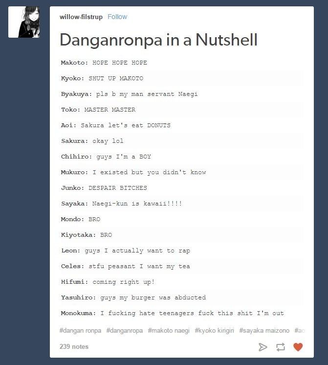 If this ain't Danganronpa...