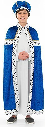 From 12.72 Wise Man - Blue - Childrens Fancy Dress Costume- Small - 112cm