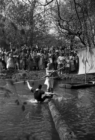 George Skadding—Time & Life Pictures/Getty Images - Not published in LIFE. King Arthur Tournament, Bethany College, West Virginia, 1952