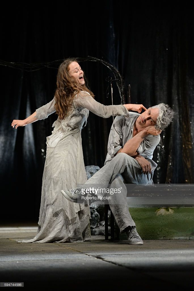 Valerie Doucet and James Thierree of Compagnie du Hanneton perform on stage 'The Toad Knew' during the Edinburgh International Festival at King's Theatre on August 24, 2016 in Edinburgh, Scotland.