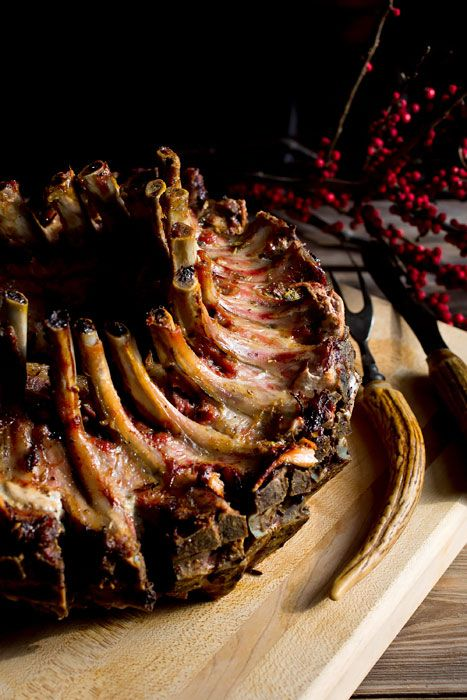 Recipe: Crown Roast of Pork with Fennel and Lemon || Photo ...