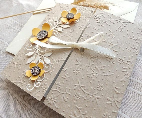 Best Handmade Wedding Invitations Ideas Only On Pinterest