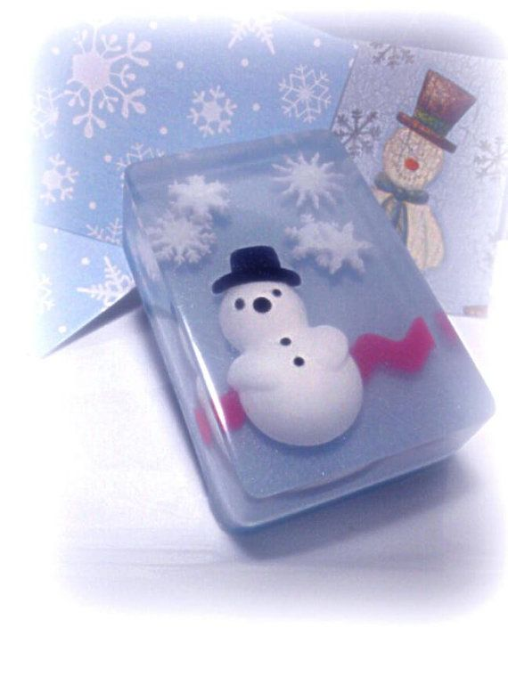 Snowman Soap by Kokolele on Etsy                                                                                                                                                     Mais