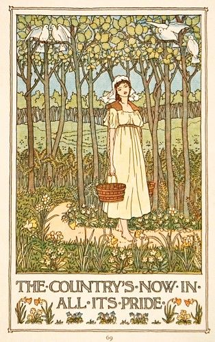 Francis D. Bedford Song of Spring (The Country now is in all its Pride) #illustration #artnouveau