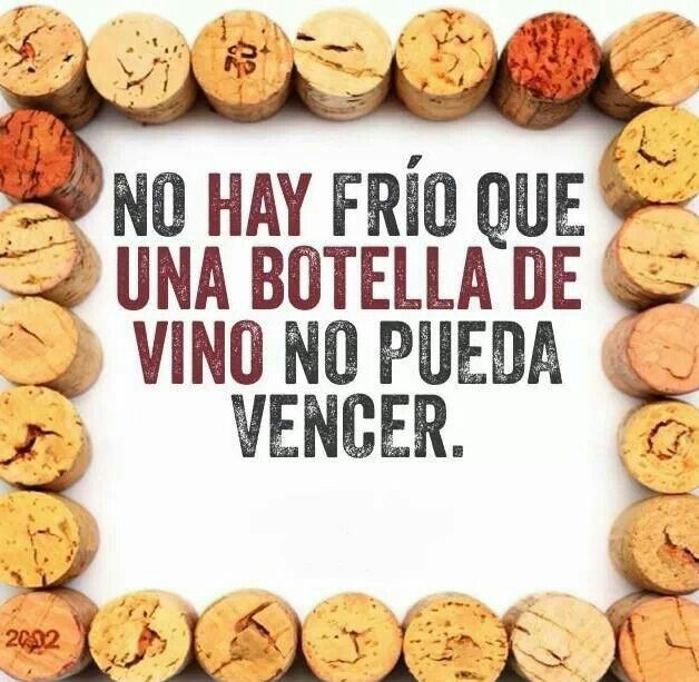 Una botella de vino de @BodegaCooperativaRúa vence cualquier frío #HumoryVino #VinoEntreAmigos