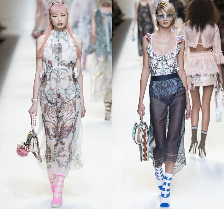 Цветочные боди под платья и юбки от Fendi Весна-Лето 2017 Ready to wear