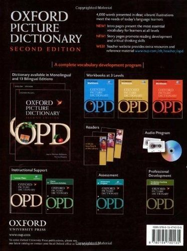 Oxford Picture Dictionary English-French: Bilingual Dictionary for French speaking teenage and adult students of English (Oxford Picture Dic