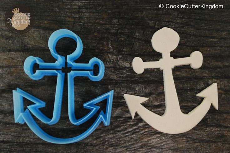 "Be the captain of your own delicious voyage with the Anchor Cookie Cutter. Make eye-catching anchor cookies perfect for any nautical occasion. The Anchor cookie cutter comes in mini (2""), standard (3"""