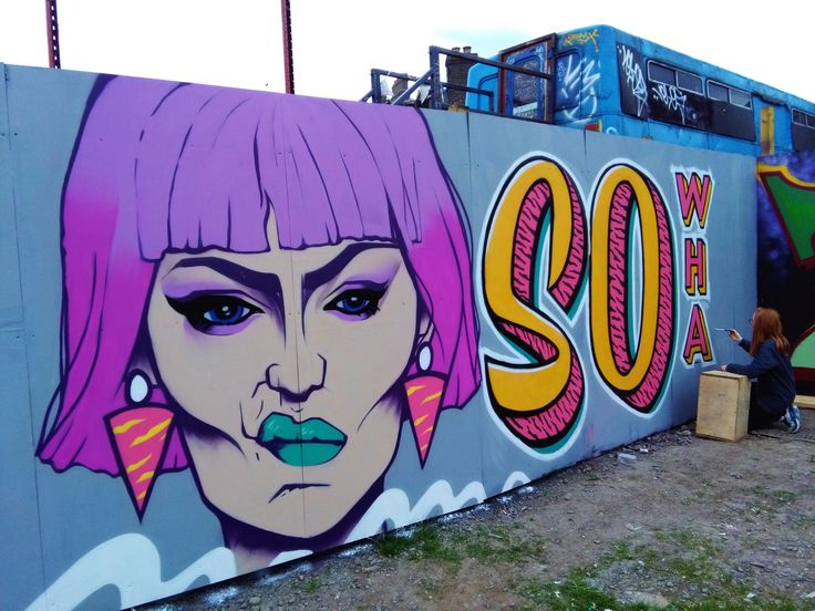 Collaboration piece in Dublin, by Jess Tobin aka Novice & Signs of power