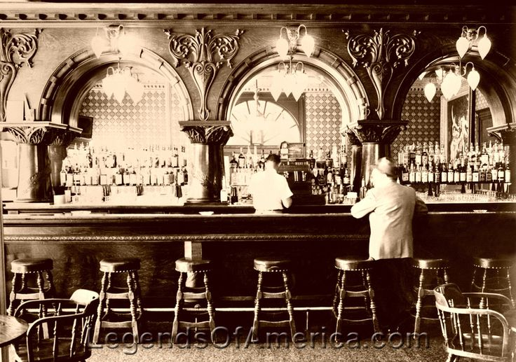 Montana Hotel, Anaconda, MT. This is what a local saloon would look like when you walked in on a quiet morning. The detail in the wood carving made it look very rich and fancy. Those that had money usually hung out at the local saloon, therefore, it was sure it would be clean and orderly.