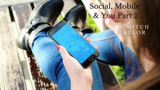 Last month we talked about how the vast majority of people have their smartphone or tablet within 3 feet of them at all times and the three important items to be sure you have on your mobile website and how mobile impacts your business. This month let's discuss the social side of social, mobile and you. First off if you haven't already done so you should create business accounts for each of the social networks i.e. Facebook, YouTube, Twitter, Linked in, Pinterest, Snapchat, etc. For t...