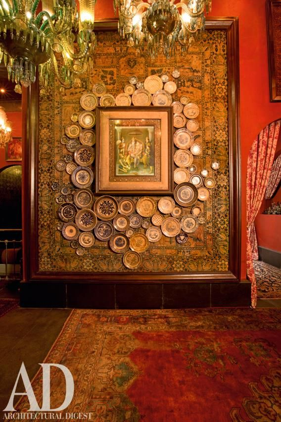 Ceramic Plates Adorn The Walls Of Sabyasachi 39 S New Store In Mumbai Love The Platesssss