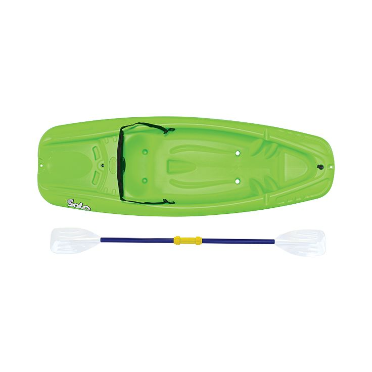 The Pelican Solo Kid Kayak with Seatback and Paddle is a sit-on-top kayak that is versatile and fun to paddle. Designed specifically for kids with its shorter length and reduced scale paddle, the kayak has an open cockpit for ease of entry/exit.