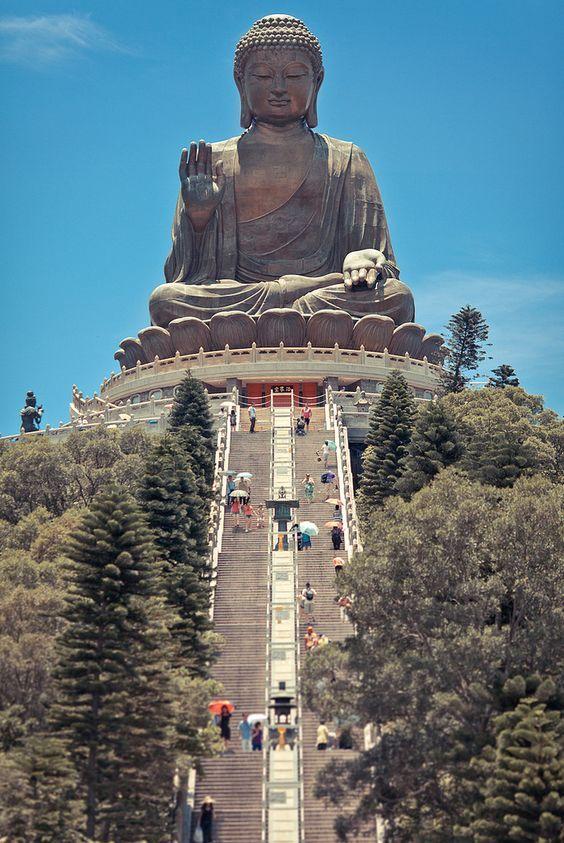 A Buddha statue atop Soul Hill in Wuxi, near Shanghai
