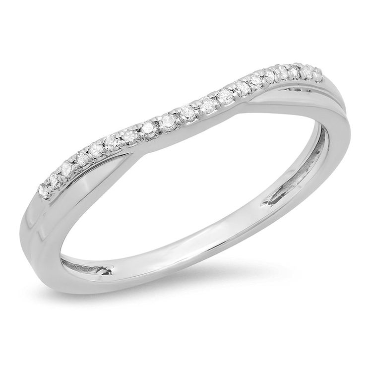 carat ctw gold round cut white topaz ladies anniversary wedding guard contour band you can get more details here wedding ring enhancers - Wedding Ring Ideas