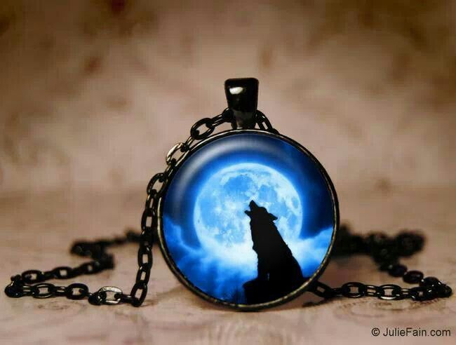 Blue Moon Wolf Necklace