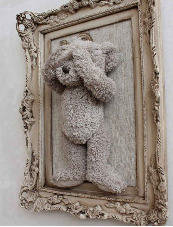 Old Diy Cheap Teddy Bear Picture Frame From Walmart Only