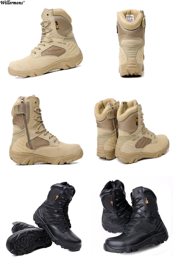 [Visit to Buy] Summer Men's Desert Camouflage Military Tactical Boots Men Outdoor Combat Army Boots Botas Militares Sapatos Masculino #Advertisement