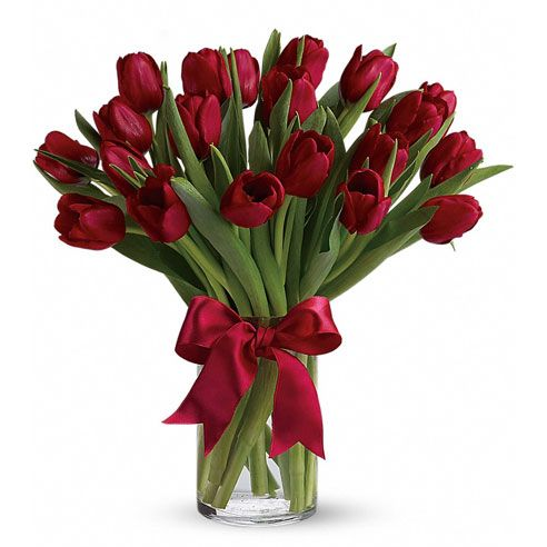 Red tulips bouquet and red tulip image at send flowers com for cheap flower delivery