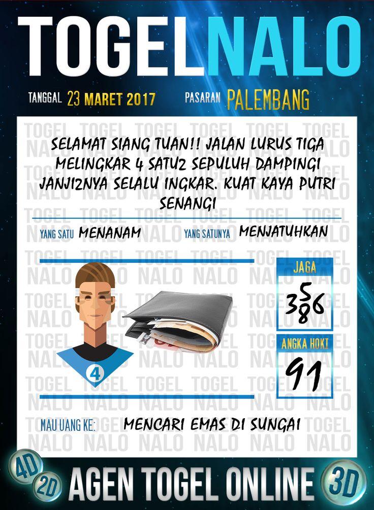 Kode Angka 4D Togel Wap Online TogelNalo Palembang 23 Maret 2017