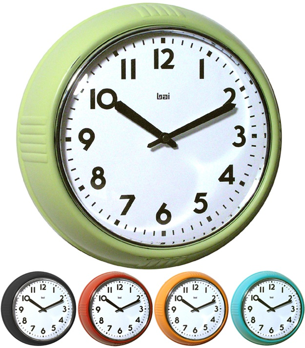 Delightful Green Retro Wall Clock