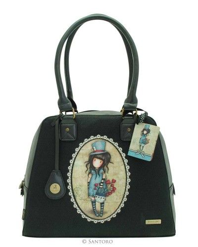 Embossed Large Handbag - The Hatter, Santoro's Gorjuss