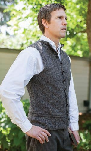A vest for Charles designed by Kathleen Dames.