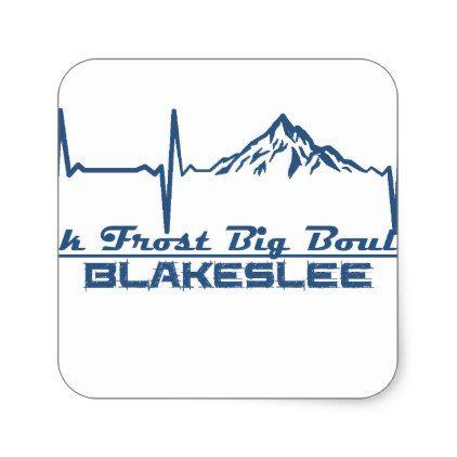 Jack Frost Big Boulder  -  Blakeslee - Pennsylvani Square Sticker - craft supplies diy custom design supply special