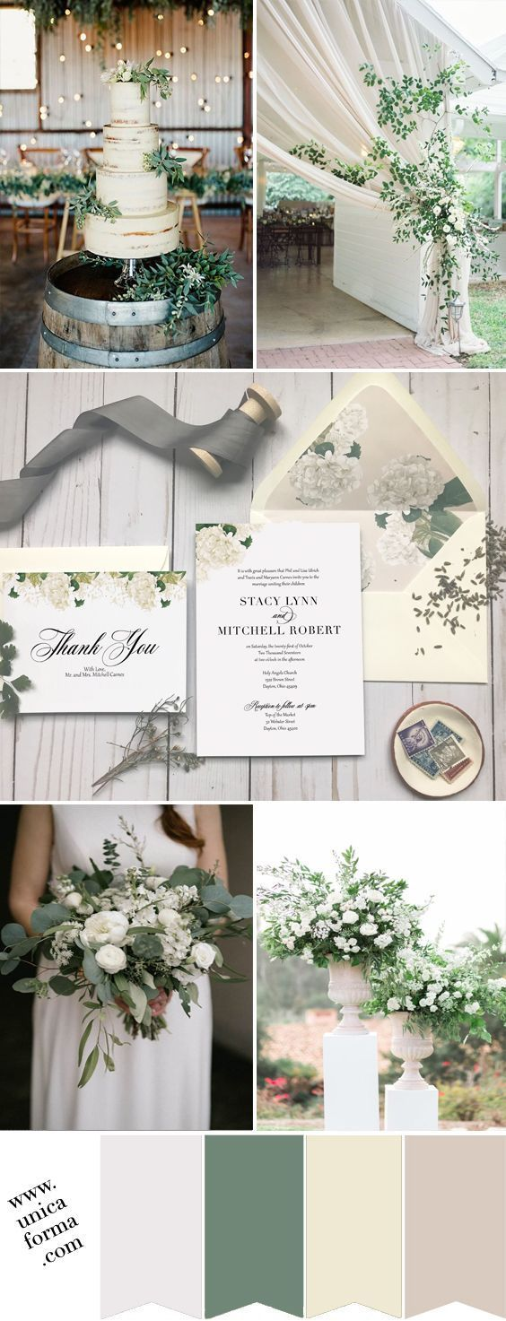 inexpensive wedding shower invitations%0A Greenery wedding  White ivory greenery wedding  Neutral wedding colors   Beige ivory white wedding