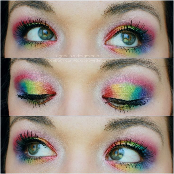 Agape Love Designs: Rainbow Eyes - Clown Doll Look