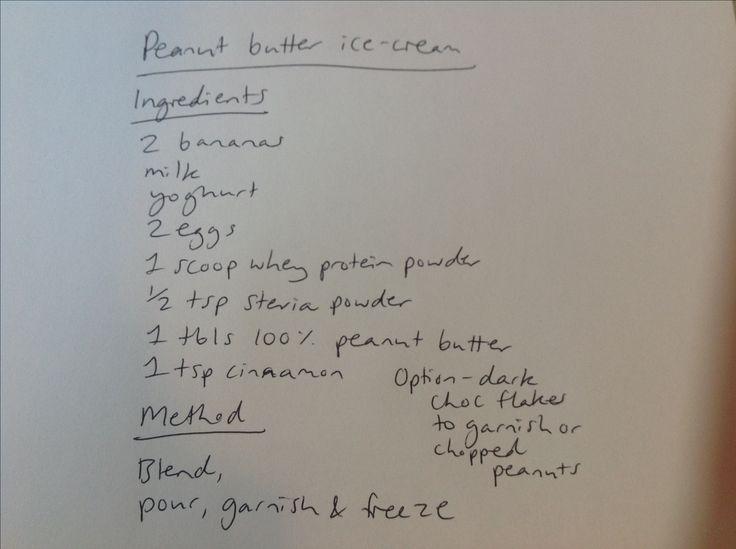Peanut butter ice-cream