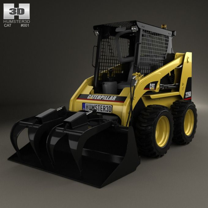 #Caterpillar 226B Skid Steer 2014 by humster #3d on Creative Market