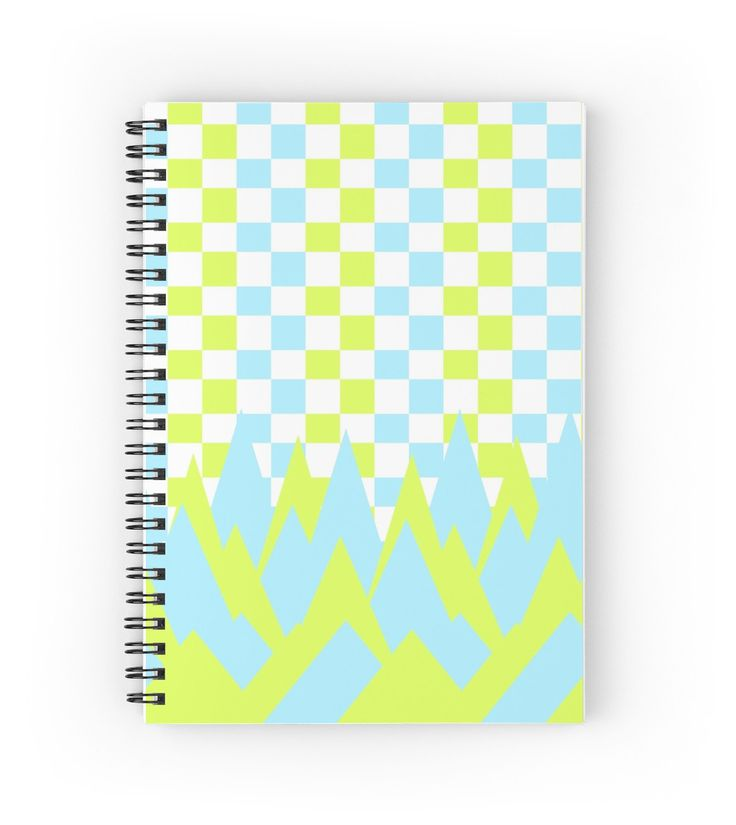 Fancy in yellow and blue by cocodes #notebook #diary #pattern #redbubble