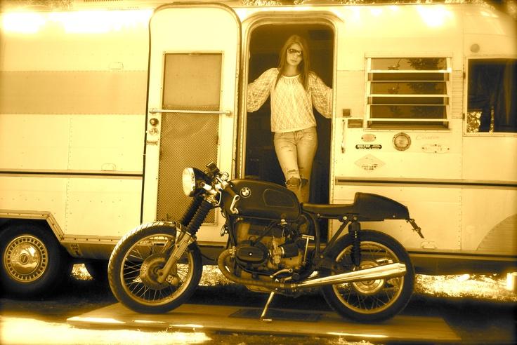 Bmw motorcycle girl sparkplugs pinterest airstream bmw