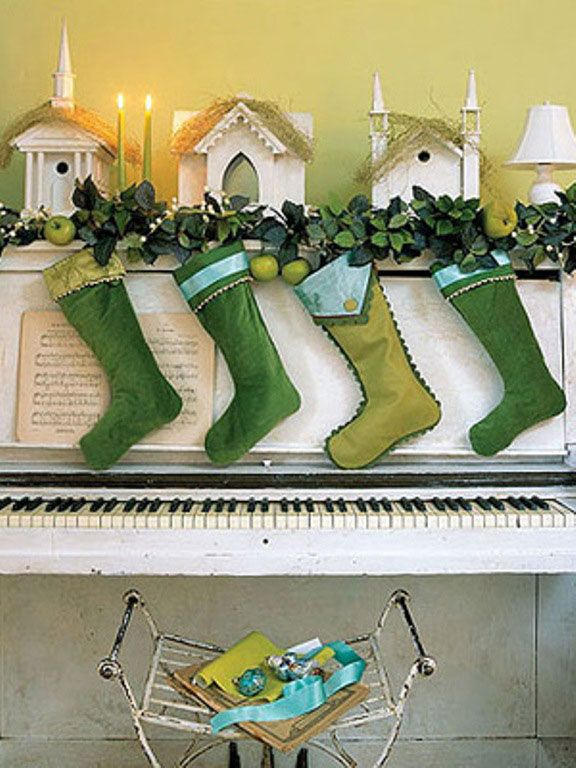 Awesome Green Christmas Sock Decorations: Awesome Green Christmas Sock Decorations
