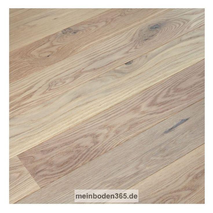 Eiche Roussillon Das Parkett ist ein 3-Schicht Fertigparkett als kurze Landhausdiele in der Holzart Eiche. Das Format ist ideal für kleine, schmale Räume geeignet. Die Oberfläche der Diele ist Natur lebhaft und zudem uv-weiß geölt. Das Parkett hat eine Nutzschicht mit einer Stärke von ca. 3,4 mm und eine 2-seitige Mikrofase. Dieser Boden kann sowohl schwimmend mit einer Trittschalldämmung oder vollflächig verklebt verlegt werden, auch auf einer Fußbodenheizung.