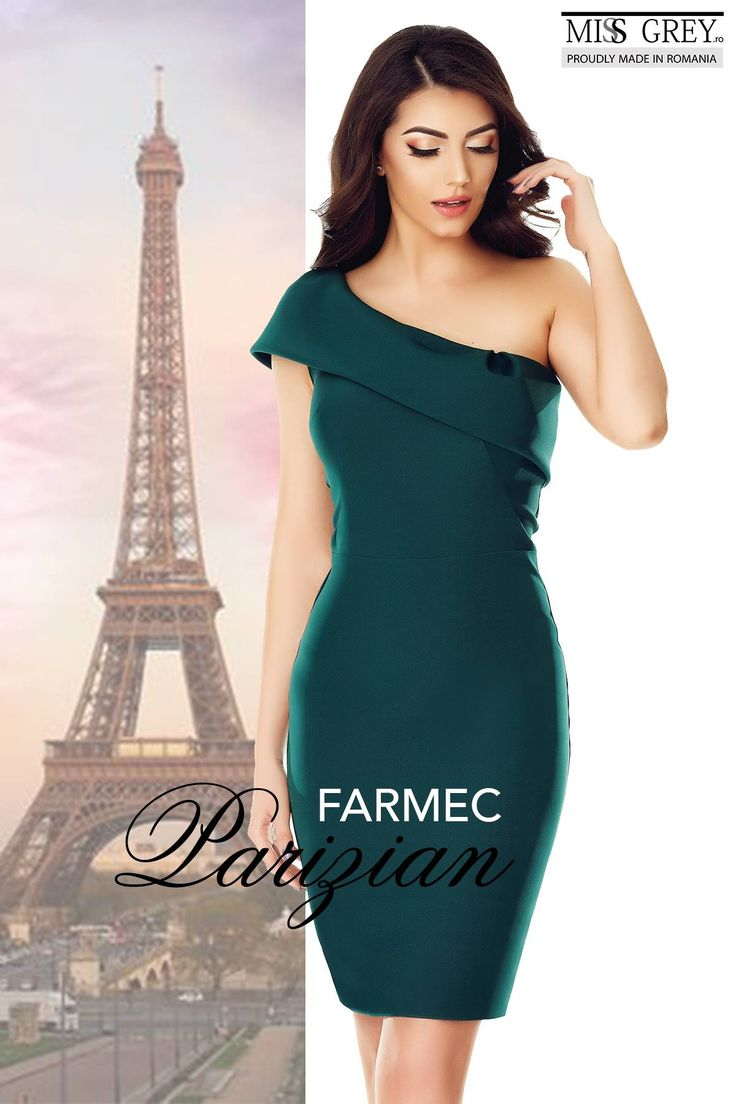 Get the feel of the fabulous Parisian elegance with the stylish and surprising Elida green dress made by MissGrey