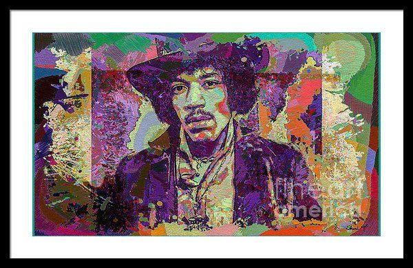 Jimi Hendrix Framed Print By Eleni Mac Synodinos
