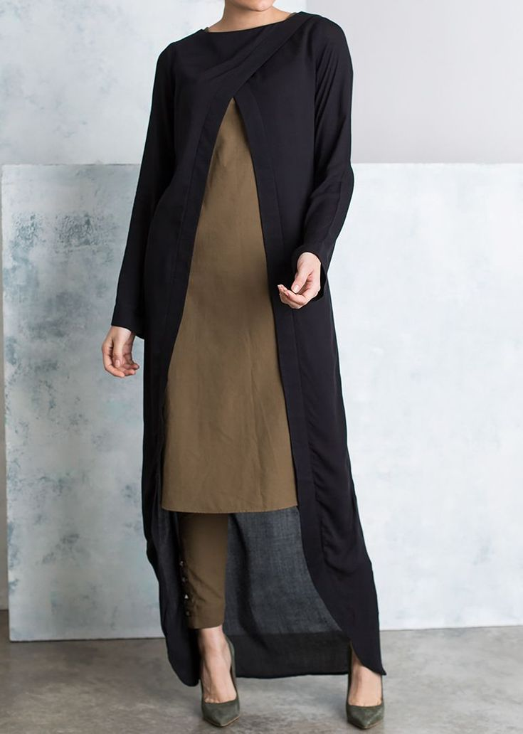 """<div class=""""page"""" title=""""Page 20""""> <div class=""""section""""> <div class=""""layoutArea""""> <div class=""""column""""> <p><span>A lightweight simple yet stylish and easy to wear black kimono perfect for a quick layer up! Kimono features a crossover style neckline with an open front. Sleeves are loose perfect for layering.</span></p> <div><span><br /><..."""